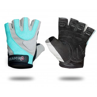 GLOVES WOMENS PRO GREY & BLUE