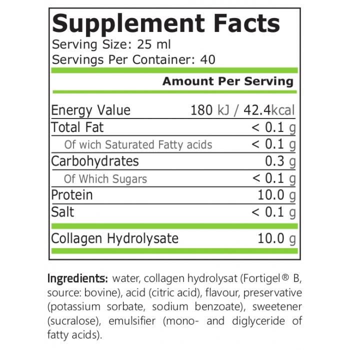 Pildiotsingu Collagen Liquid 1000ml pure nutrition tulemus
